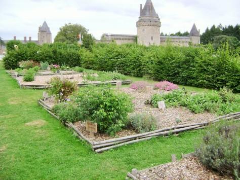 Medieval garden in Blain, France