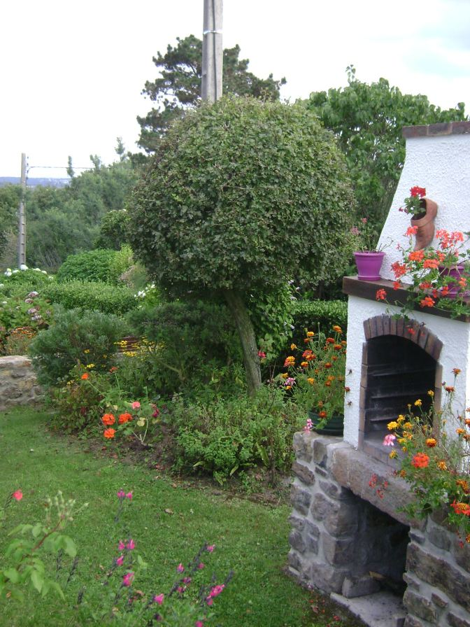 Roscanvel, Brittany Garden with Outdoor Fireplace