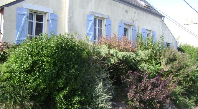 A Tiny and Lush Terraced Front Garden in Brittany