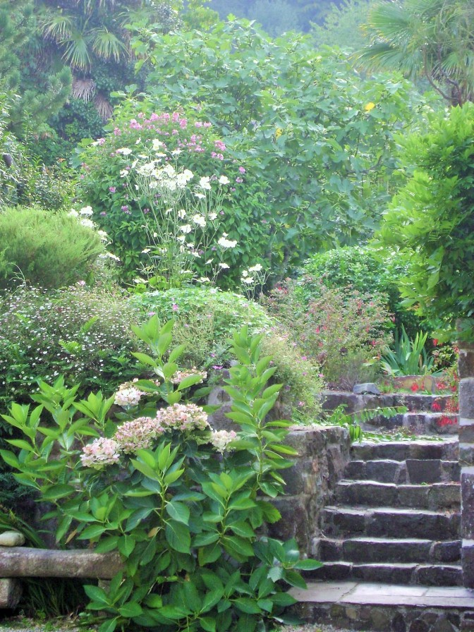 Landscaped Terraced Garden in Brittany