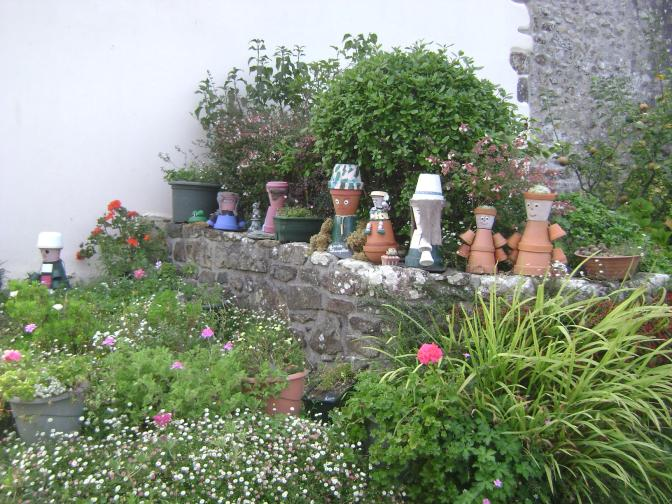"""""""Crafty"""" Country Garden in a Small Brittany Village"""