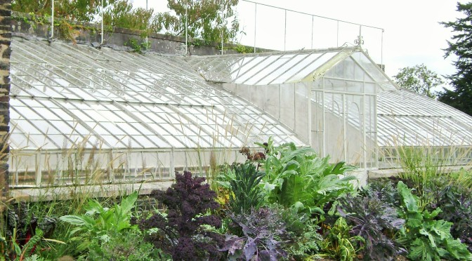 Castle of Trevarez in France: The Vegetable Garden & Greenhouses