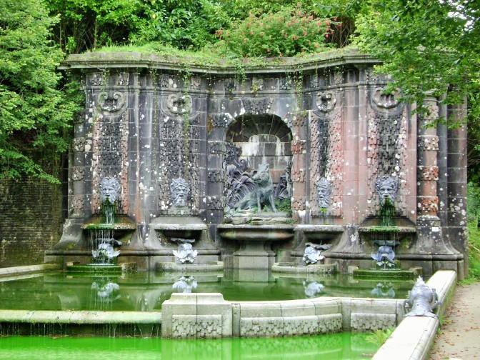 Trevarez Castle and gardens, France, the Italian garden
