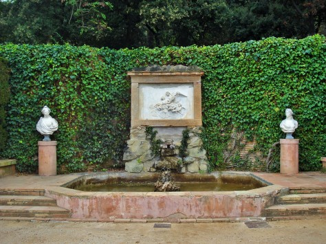Fountain on the second terrace