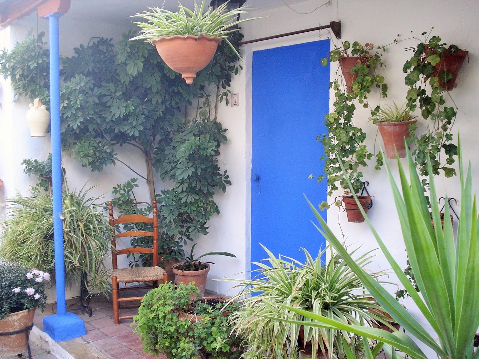 Casa Del Patio In Cordoba Vertical Container Gardening
