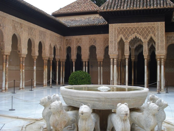 Alhambra's Iconic Patios & Courtyards in Granada, Spain