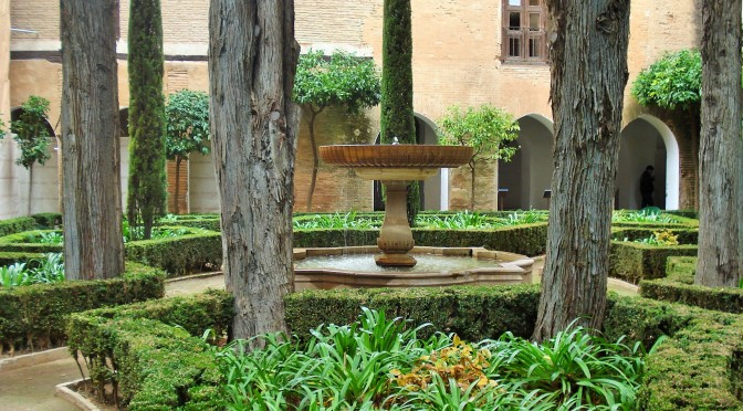 Alhambra's Patio de Lindaraja: Courtyards in Granada, Spain