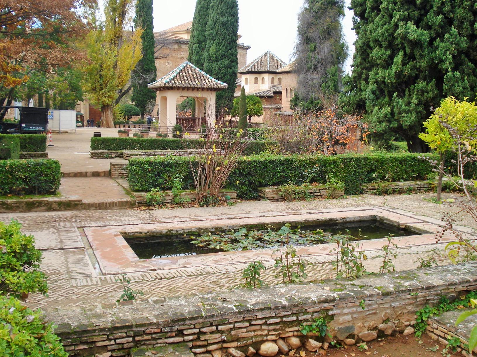 The Alhambra's Gardens in Granada: The UpperTerraces