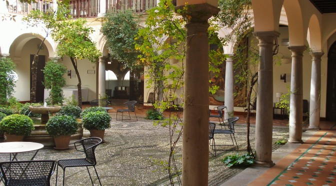 Patios and courtyards of the Alhambra's Parador, Granada, Spain