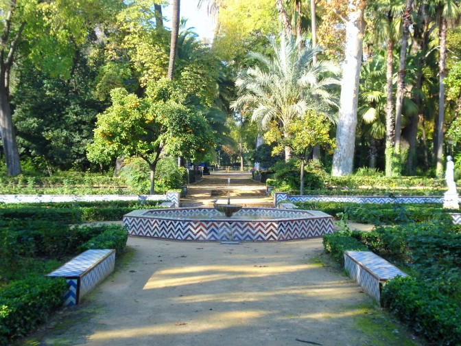 Maria Luisa Park in Sevilla: the Glorieta de las Conchas and Arbors