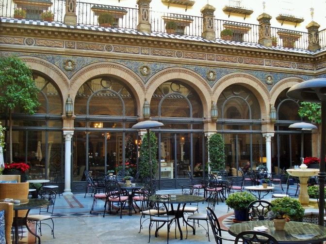 A Stunning Andalusian Patio at Sevilla's Alfonso XIII