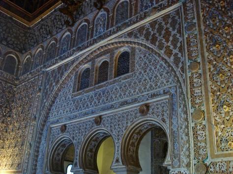 Alcazar Palace and Gardens, Courtyard of the Maidens, Sevilla
