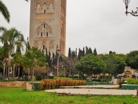 Hassan Tower and gardens, Rabat, Morocco